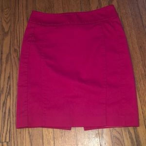 Express Sateen Berry Pencil Skirt